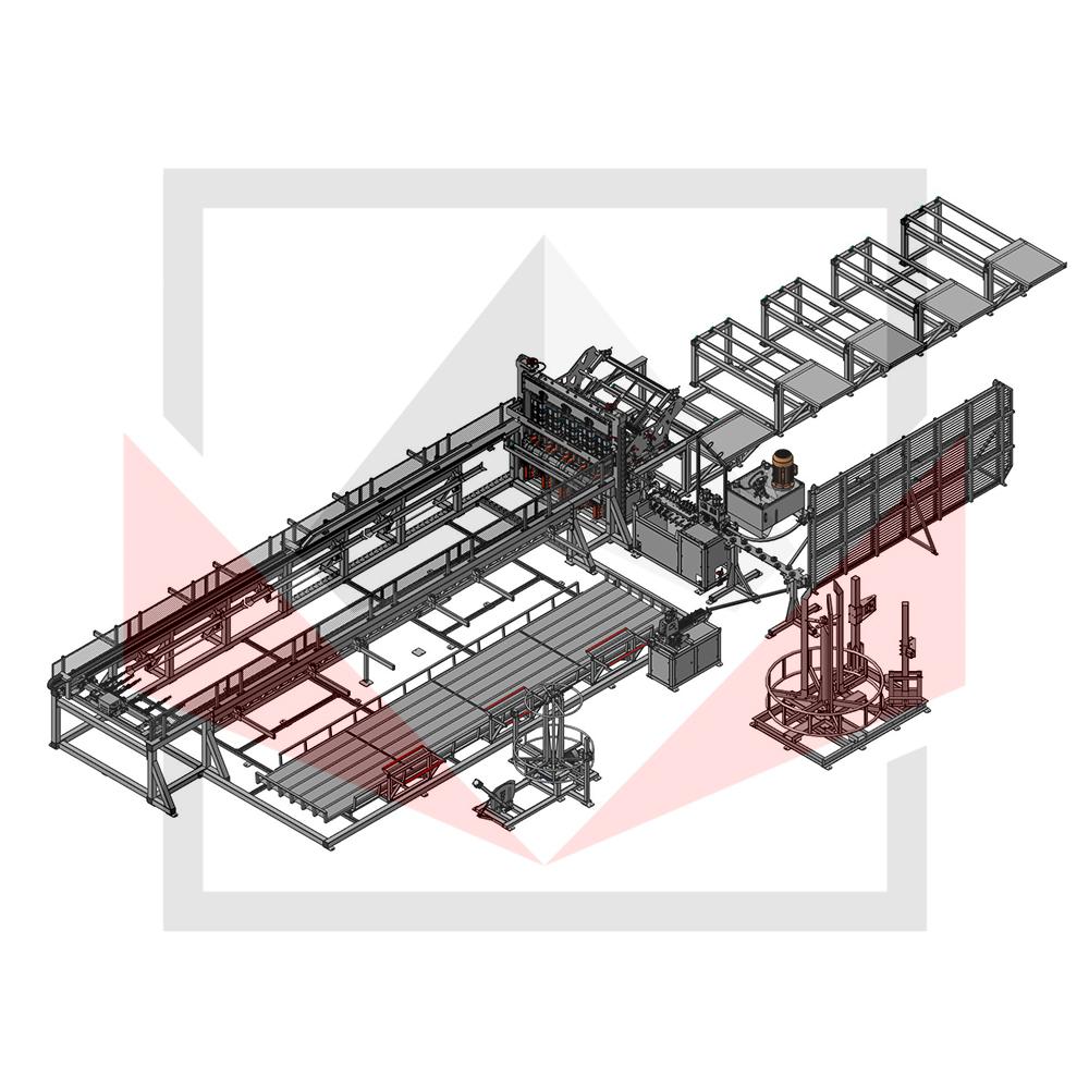Автоматическая линия ALDK для сварки плоских каркасов с бухт Фото-3944