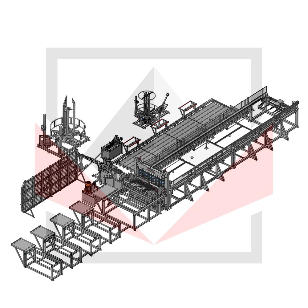 Автоматическая линия ALDK для сварки плоских каркасов с бухт Фото-3943