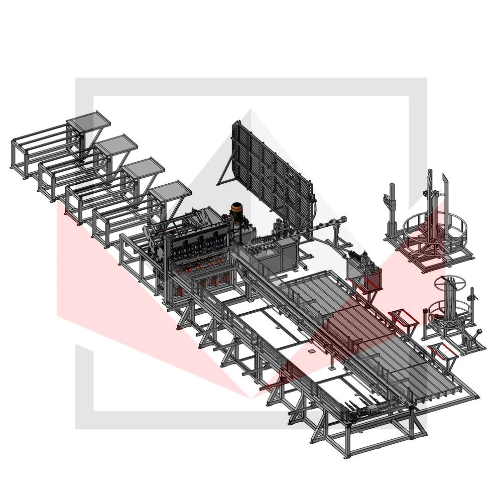 Автоматическая линия ALDK для сварки плоских каркасов с бухт Фото-3942
