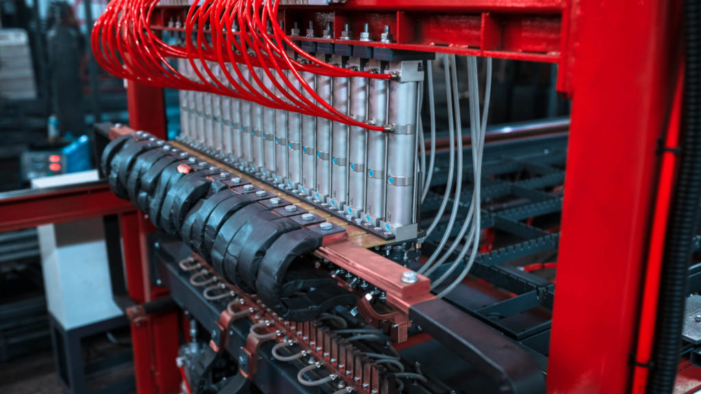 Полуавтоматическая линия сварки сеток в кондукторе серии PALK Фото-1707