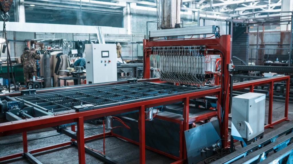 Полуавтоматическая линия сварки сеток в кондукторе серии PALK Фото-1709