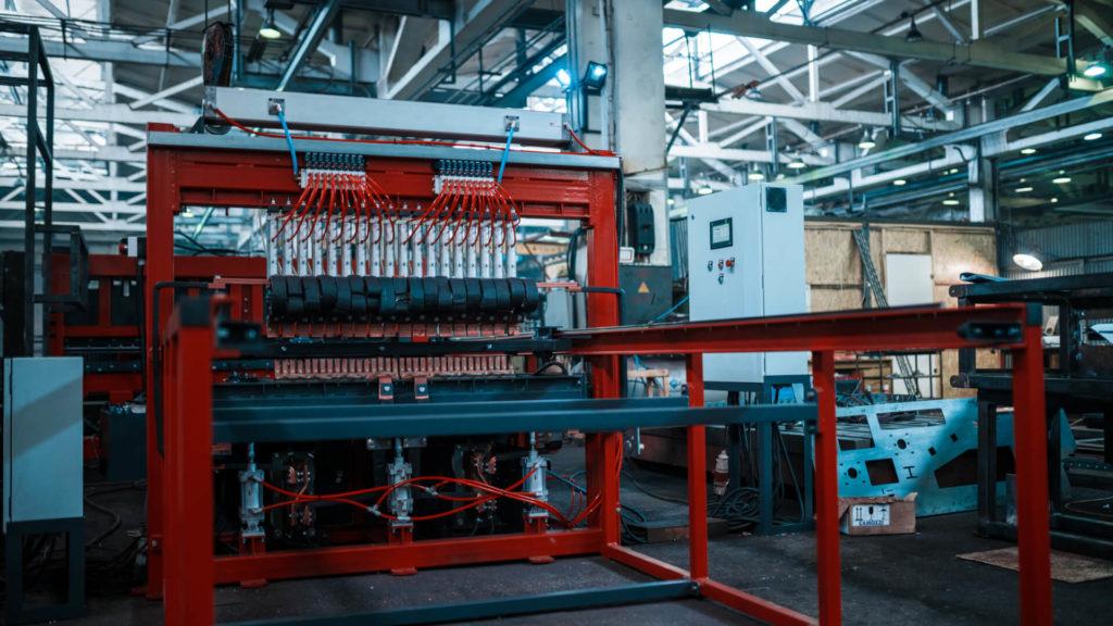 Полуавтоматическая линия сварки сеток в кондукторе серии PALK Фото-1702