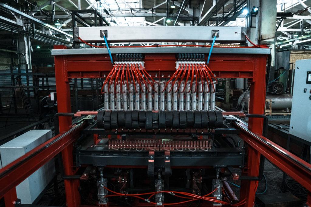 Полуавтоматическая линия сварки сеток в кондукторе серии PALK Фото-1704