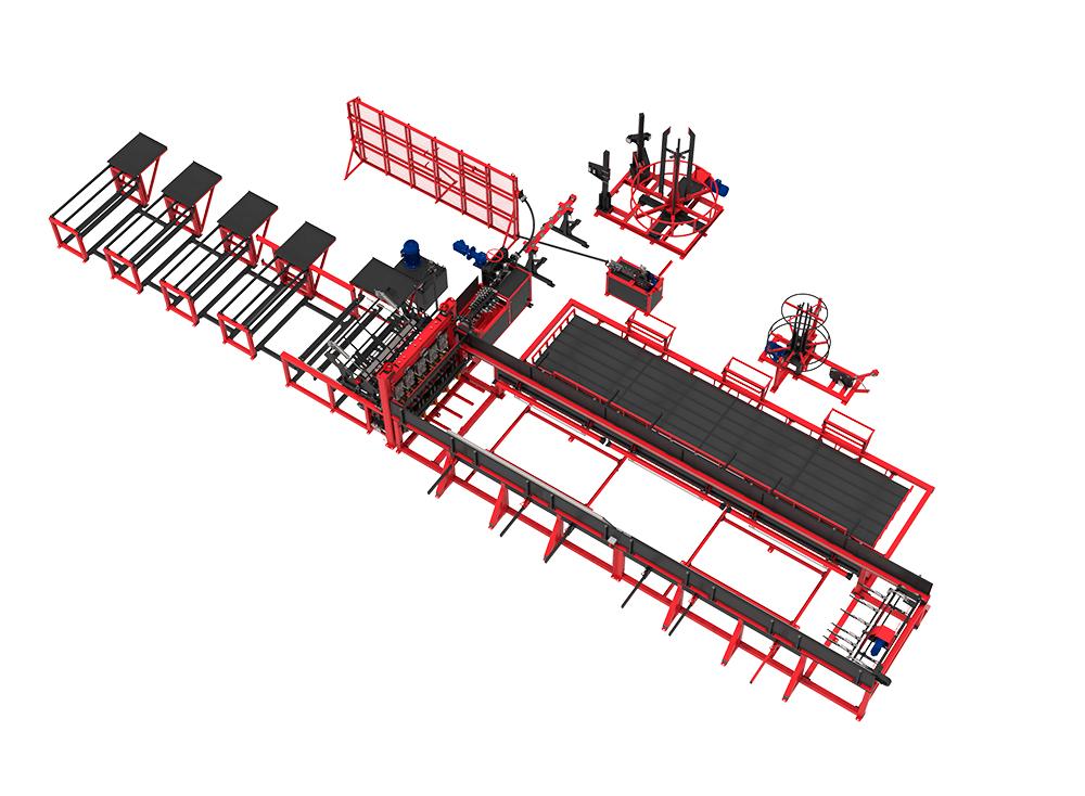 Автоматическая линия ALDK (мерные + бухты) для сварки плоских каркасов Фото-4044