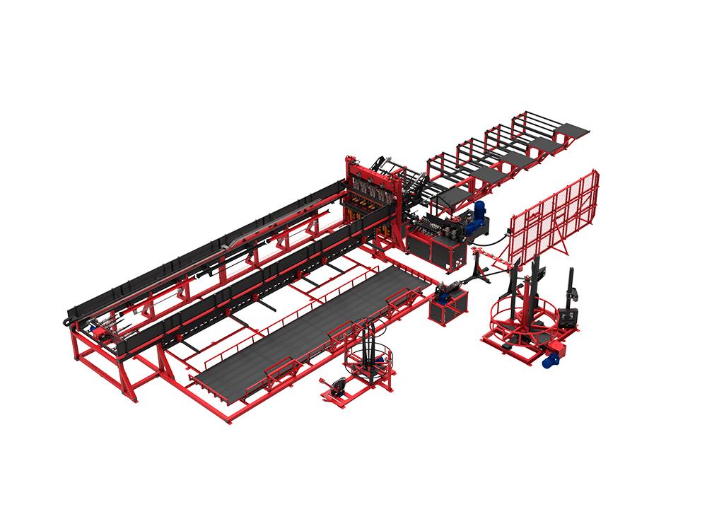 Автоматическая линия ALDK (мерные + бухты) для сварки плоских каркасов