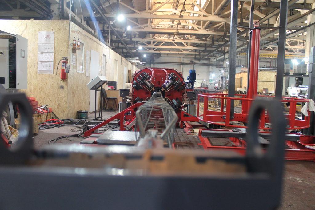 Сваенавивочная машина MSNM для навивки и сварки каркасов мини-свай Фото-4064