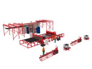 Производственная линия 3DRDN-2700 для заборов 3D под ключ