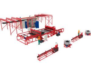Производственная линия 3DRDN-3150 для заборов 3D под ключ