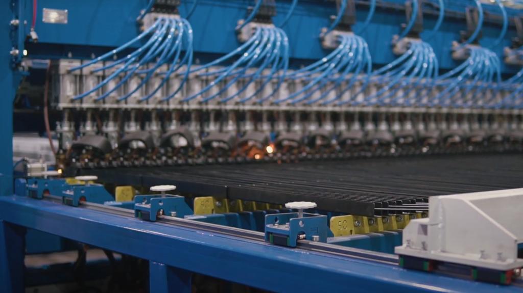 Многоточечный станок для производства сварной заборной сетки wlf-sa