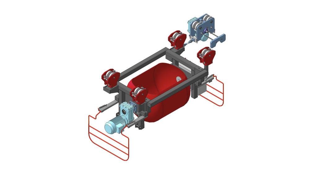 Бетоновозная телега (кюбели) с поворотным бункером