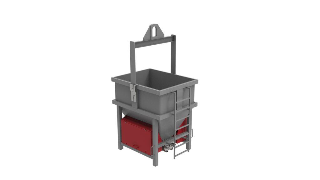 Предаточная бадья (ковш) для бетона