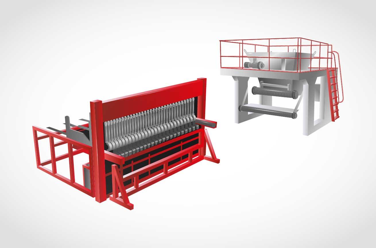 Оснащение арматурного и формовочного цеха заводов ЖБИ