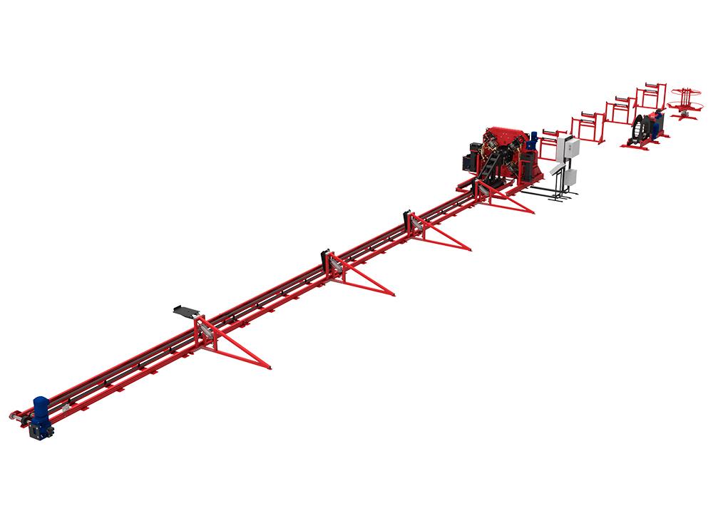 Сваенавивочная машина SNMT для навивки и сварки тяжёлых каркасов свай