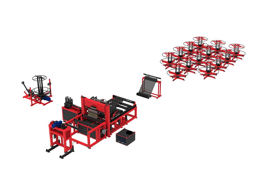 Автоматическая линия ALDK (бухты + бухты) для сварки плоских каркасов
